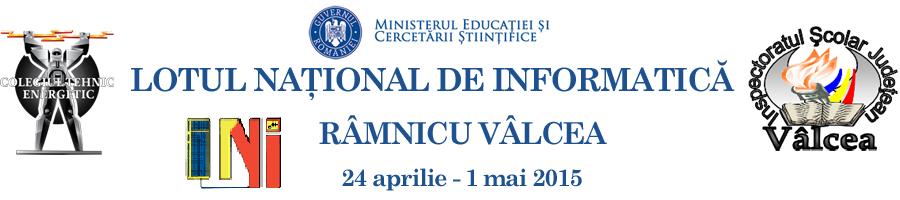 Lotul National de Informatica – Rm. Valcea, 2015